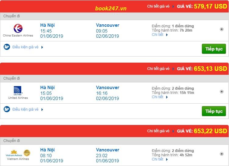 Vé máy bay đi Vancouver-Canada