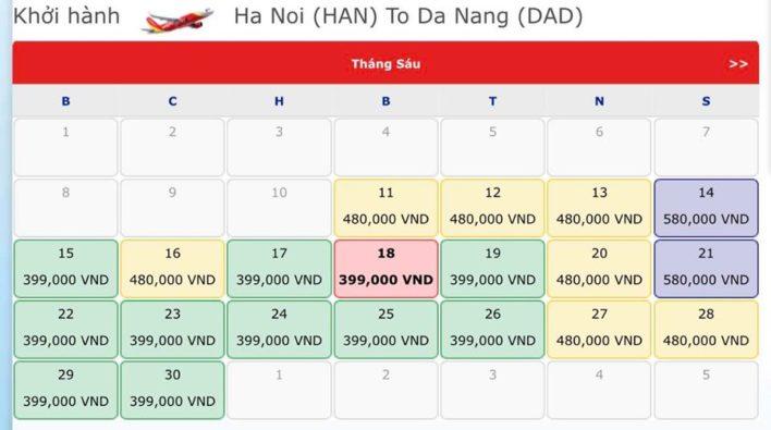 Vé máy bay hà nội đi đà nẵng - Vé máy bay khuyến mãi tháng 6