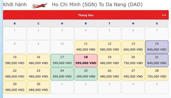 Vé máy bay Sài Gòn đi Đà Nẵng - Vé máy bay khuyến mãi tháng 6