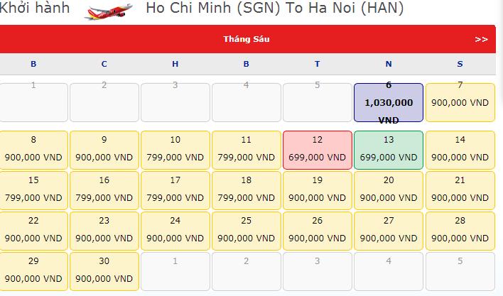 Vé máy bay đi Hà Nội - Vé máy bay khuyến mãi tháng 6