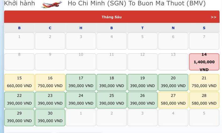 Vé máy bay đi Buôn Mê Thuột - Vé máy bay khuyến mãi tháng 6