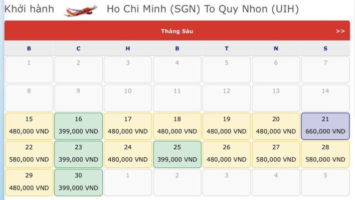 Vé máy bay đi Quy Nhơn - Vé máy bay khuyến mãi tháng 6