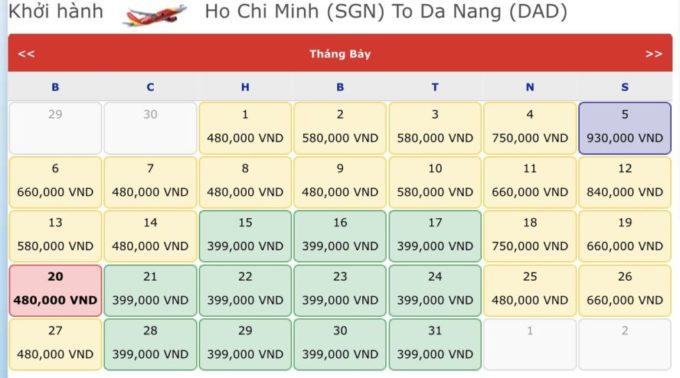 Vé máy bay đi Đà Nẵng. Vé máy bay khuyến mãi tháng 7