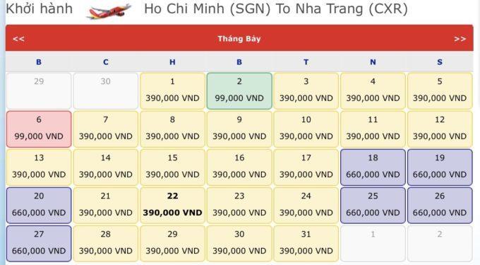 Vé máy bay đi Nha Trang. Vé máy bay khuyến mãi tháng 7